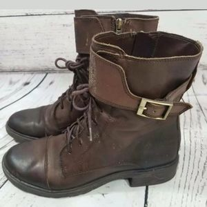 Vince Camuto Taryn Combat Boots Brown 7.5